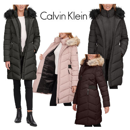 Calvin Klein◆Hooded Puffer Coat パファーコート