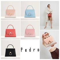 【Pedro】STRUCTURED TOP HANDLE BAG/5色展開