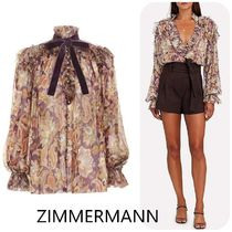 【ZIMMERMANN】Ladybeetle Ruffled Lurex Top