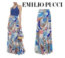 Emilio Pucci☆Tiered printed silk crepe de chine maxi skirt