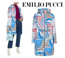 Emilio Pucci☆Reversible printed quilted shell hooded coat