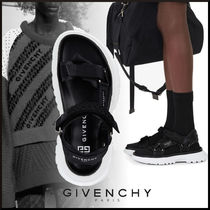 送料込【GIVENCHY】SPECTRE SANDALS IN LEATHER AND CANVAS