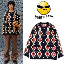 ★YOUTHBATH★PIXEL KNITE CARDIGAN_NAVY