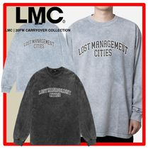 ☆韓国の人気☆【LMC】☆ACID WASHED ARCH FN LONG SLV TE.E☆