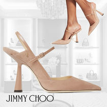 Jimmy Choo/RAY 100/Ballet-Pink Suede and Leather Pumps/100㎜