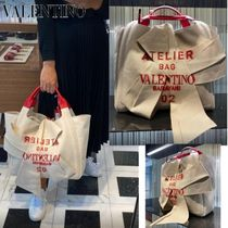 ヴァレンティノ直営店◆ATELIER BAG 02 CANVAS TOTE WITH BOW◆