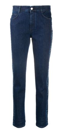 Stella McCartney デニム・ジーパン ◆国内発◆【Stella mccartney】Logo Cropped denim ジーンズ(2)