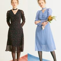 ★日本未入荷★Salon de Yohn Shirring Point Midi Dress 2色
