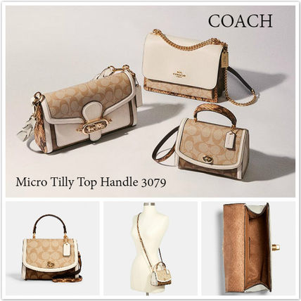 即発 COACH★Micro Tilly Top Handle 3079