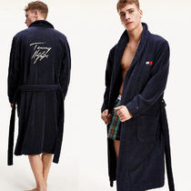 Tommy Hilfiger flag logo towelling bathrobe