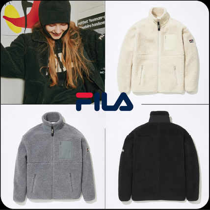 [ FILA ]★韓国大人気★Linear Wappen Bonding Boa Jacket