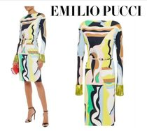 Emilio Pucci☆Embellished printed stretch-jersey dress