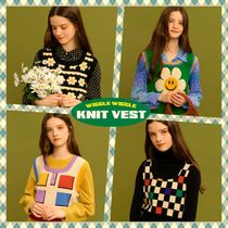 【wigglewiggle】Square colorful vintage ニットベスト 4colors