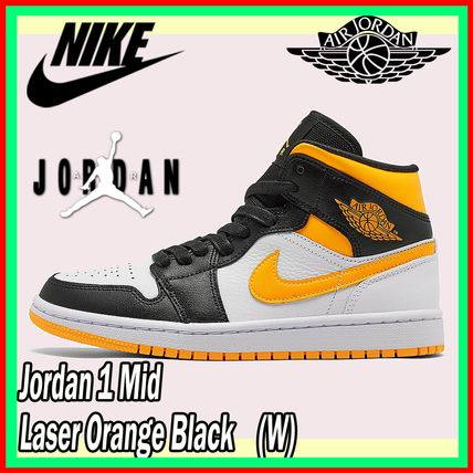 ★Nike★ ナイキ Jordan 1 Mid Laser Orange Black (W)