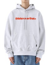 [thisisneverthat] T-Logo Hooded Sweatshirt Light Grey (003)