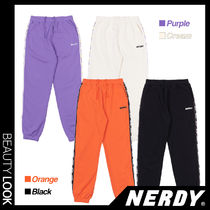 【NERDY】人気★BIG N TAPE SWEATPANTS 4色★20-21AW
