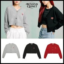 ◆BEYOND CLOSET◆ NOMANTIC LOGO CROP KNIT WOOL CARDIGAN 3色