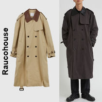 Raucohouse(ラウコハウス)★ Leather Detail Trench Coat 2色