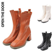 [OPEN THE DOOR] stitch line ankle boots 3色★アンクルブーツ