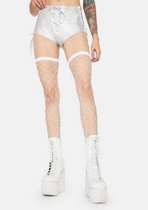 New★DOLLS KILL★ SHININ' BRIGHT FISHNET THIGH HIGHS
