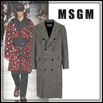★MSGM★ Long double-breasted coat  ロングコート☆グレー☆
