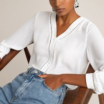 La Redoute★V-Neck Blouse with Long Sleeves