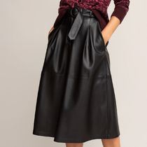 La Redoute★Faux Leather Midi Skirt