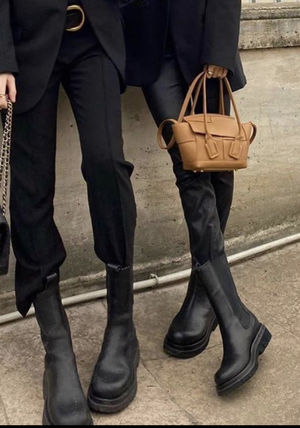 2020 F/W Bottega Veneta★★BV LUG BOOTS in All BLK