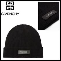 【GIVENCHY】ロゴ ウール カシミア ビーニー ニットキャップ