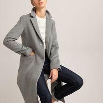 La Redoute★Straight Mid-Length Coat in Wool Mix