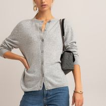 La Redoute★Fine Cashmere Knit Cardigan with Crew-Neck