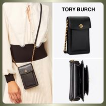 【Tory Burch】ROBINSON MIXED-MATERIALS PHONE CROSSBODY