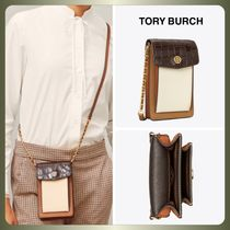 【Tory Burch】ROBINSON EMBOSSED COLOR-BLOCK PHONE CROSSBODY