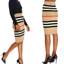 Burberry★100%wool pencil skirt 国内発送・送関込