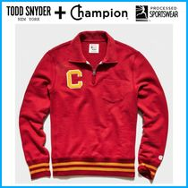 ☆Todd Snyder + Champion☆ ZIP POLO SWEATSHIRT WITH C PATCH