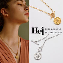 韓国発【Hei】twenty pence pendant toggle necklace☆追跡付