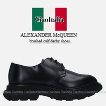 ALEXANDER McQUEEN brushed calf derby shoes