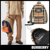 【BURBERRY】Vintage Check Backpack Charm