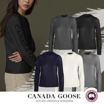 CANADA GOOSE▼お洒落 SATURNA CREWNECK WORDMARK セーター