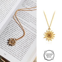 VINTAGE HOLLYWOOD★Vintage Sunflower Necklace★韓国大人気