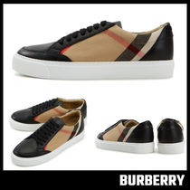 【BURBERRY】House Check and Leather Sneakers