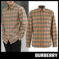 【BURBERRY】Small Scale Check Stretch Cotton Shirt