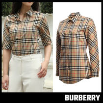 【BURBERRY】Vintage Check Stretch Cotton Twill Shirt