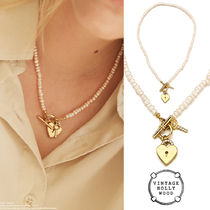 VINTAGE HOLLYWOOD★Open Your Heart Pearl Necklace★韓国人気