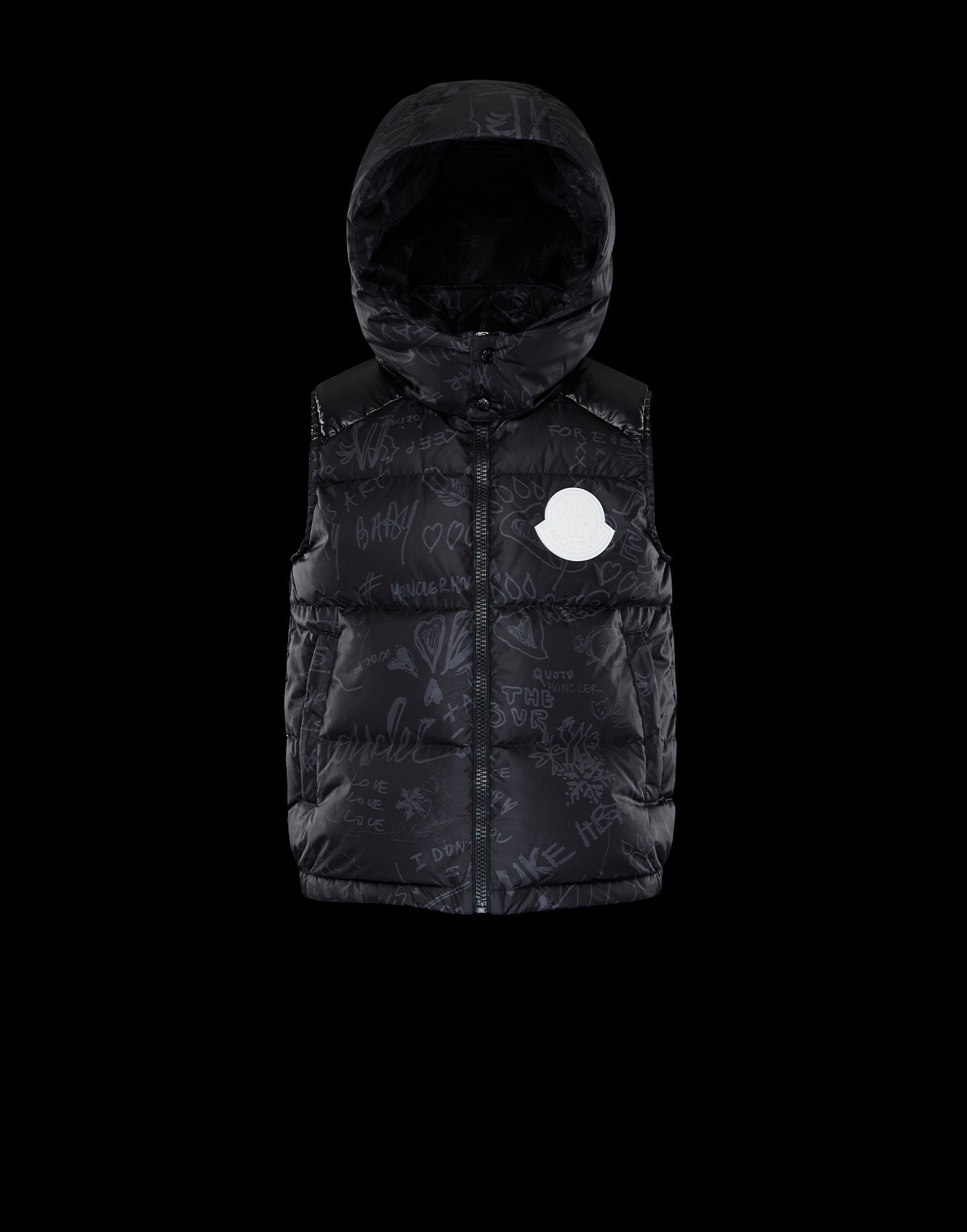 MONCLER2020/21AW新作キッズフード付ダウンベストANTWAN 8A/10A (MONCLER/キッズアウター) 956 1A502 20 53A19J