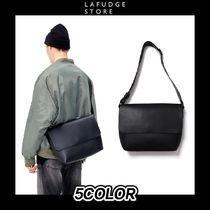 [LAFUDGESTORE] BUFFING LEATHER ROUND COZY CROSSBAG 5COLOR
