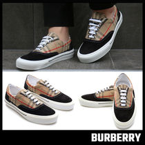 【BURBERRY】Vintage Check Cotton and Suede Sneakers
