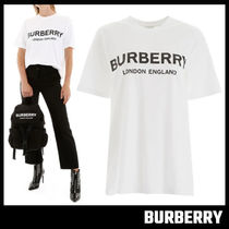 【BURBERRY】Logo Print Cotton Oversized T-shirt