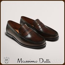 MassimoDutti♪LEATHER STRAP PENNY LOAFERS
