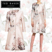 【TED BAKER】CONIIEY ミディ丈 コート 花柄 メタリック
